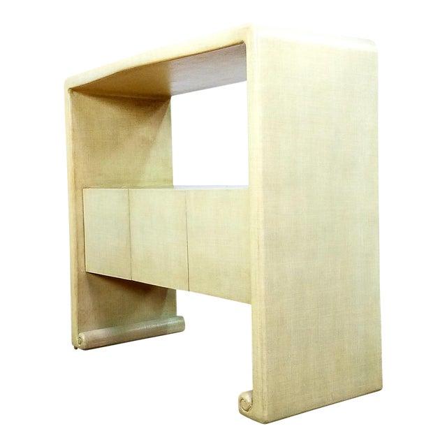 Mid-Century Harrison Van Horn Style Console Sofa Table For Sale