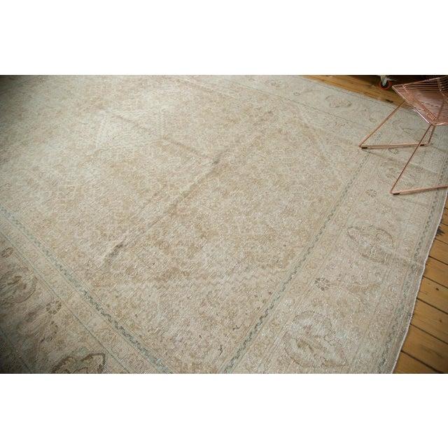 "Vintage Distressed Mahal Carpet - 10'3"" x 13'8"" For Sale - Image 4 of 10"