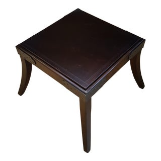 Hickory Chair Leather, Metal, Wood Bench For Sale
