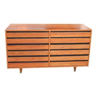 1970s Mid-Century Modern Solid Wood Dresser For Sale