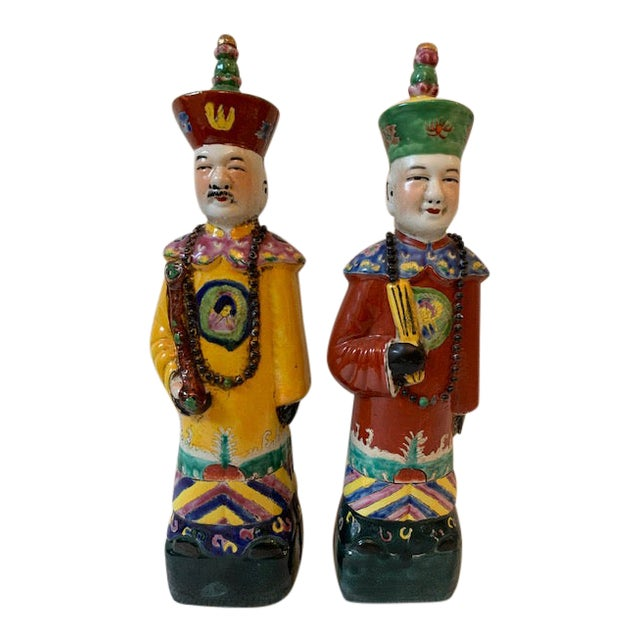 Vintage Chinese Figurines - a Pair For Sale