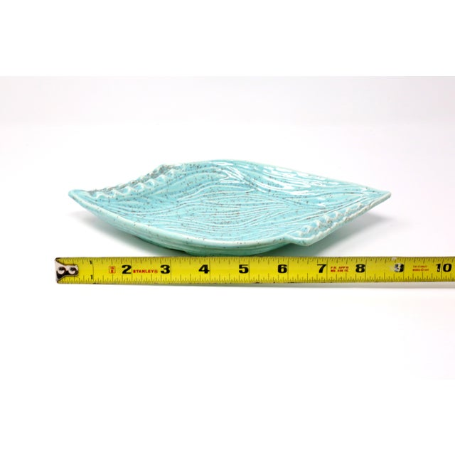 Vintage Turquoise California Originals Ceramic Ashtray For Sale - Image 9 of 10