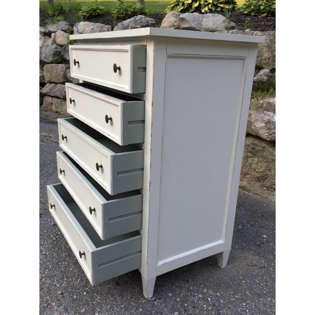 Crate & Barrel White Highboy Dresser For Sale - Image 10 of 10