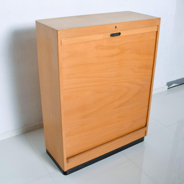 Bauhaus Filing Cabinet Locking Tambour Door by Adolf Maier Germany For Sale In San Diego - Image 6 of 11