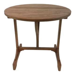 Caracole Transitional Tilt Top Pine Finished Wine Table For Sale