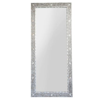 Inlaid Mother of Pearl Full Length Mirror For Sale