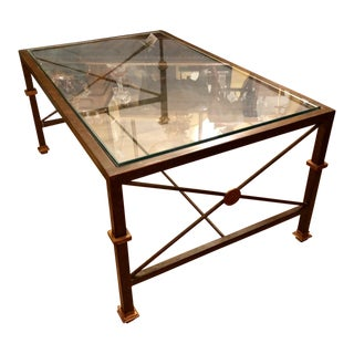 Iron & Glass Milano Coffee Table by Pdc Designer Murray's Iron Works For Sale