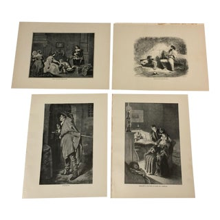 1892 Antique Characters From Works by Alexandre Dumas Prints - Set of 4 For Sale