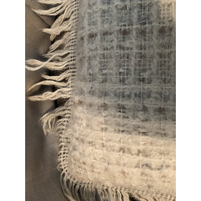 1980s Vintage Hand Woven Irish Wool Pillow For Sale - Image 5 of 8
