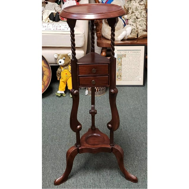 1880 English Victorian Queen Anne Style Mahogany Wash Stand For Sale - Image 9 of 9