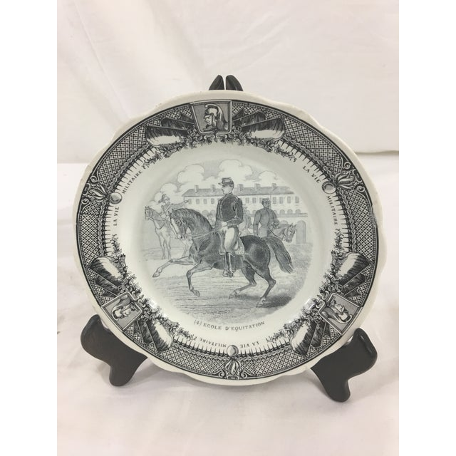 Sarreguemines French Military Life Plates - Set of 7 For Sale - Image 6 of 9