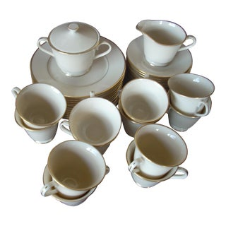 Lenox Cream & Gold Dinnerware Serving Set For Sale