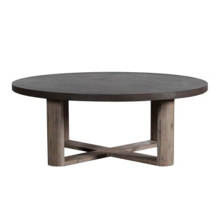 Lucia Round Cement Coffee Table For Sale