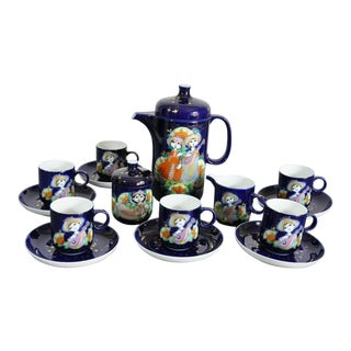 Rosenthal Studio Linie Bjorn Wiinblad 1001 Arabian Nights Espresso Set - 17 Pieces For Sale
