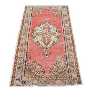 Handmade Turkish Oushak Carpet - 2′10″ × 5′6″ For Sale