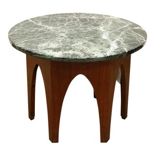 Harvey Probber Walnut and Marble Side Table For Sale