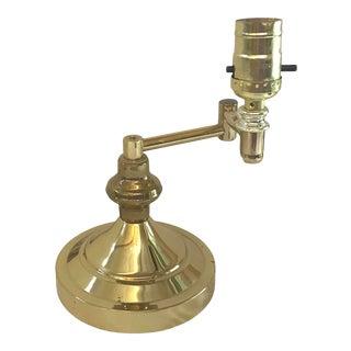Vintage Brass Articulating Desk Lamp For Sale