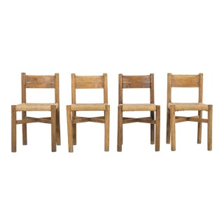 Set of Méribel Chairs by Charlotte Perriand for Georges Blachon