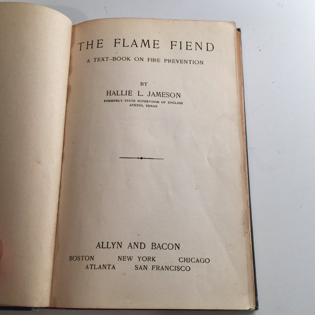 """""""The Flame Fiend"""" 1921 Hallie L. Jameson Book For Sale - Image 4 of 10"""