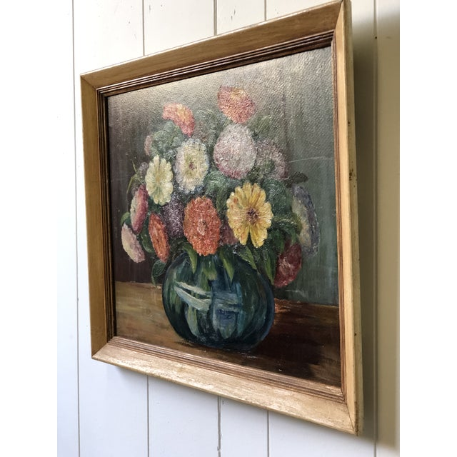 Bright and Cheerful 1940s Floral Still Life For Sale - Image 12 of 13