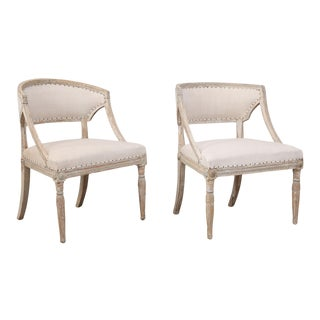 Pair of 19th Century Swedish Armchairs