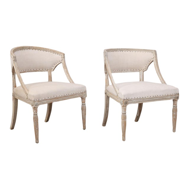 Pair of 19th Century Swedish Armchairs For Sale