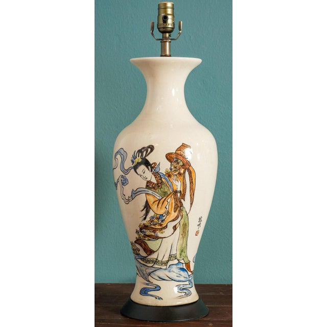 Antique Chinese Export Vase Lamp For Sale In Houston - Image 6 of 6