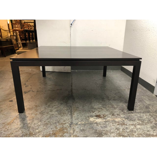 Brown Contemporary Custom Square Oak Dining Table For Sale - Image 8 of 8