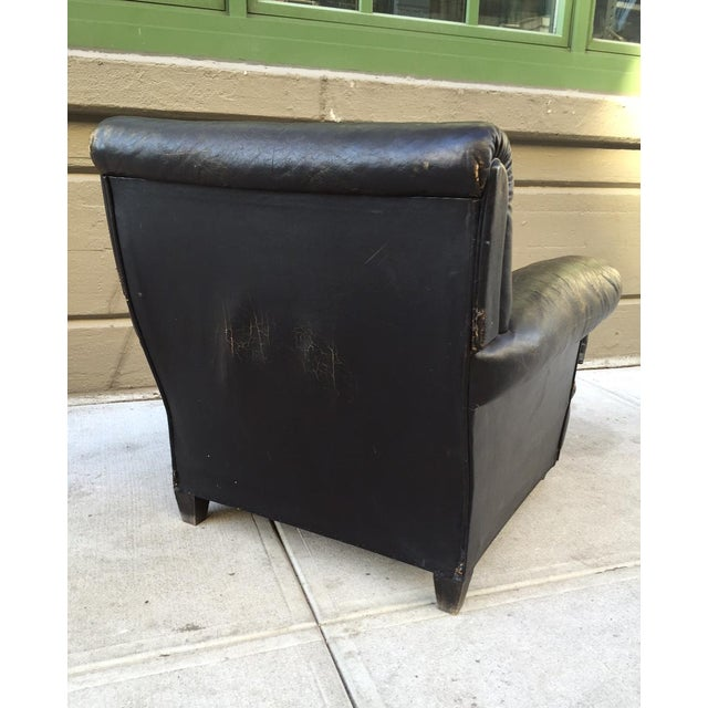 Pair 1930s English Leather Club Chairs For Sale - Image 4 of 10