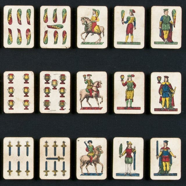 40 Framed A. Viassone Italian Playing Cards - Image 5 of 5
