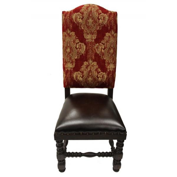 21st Century Vintage French Traditional Red Dining Chair For Sale - Image 4 of 4