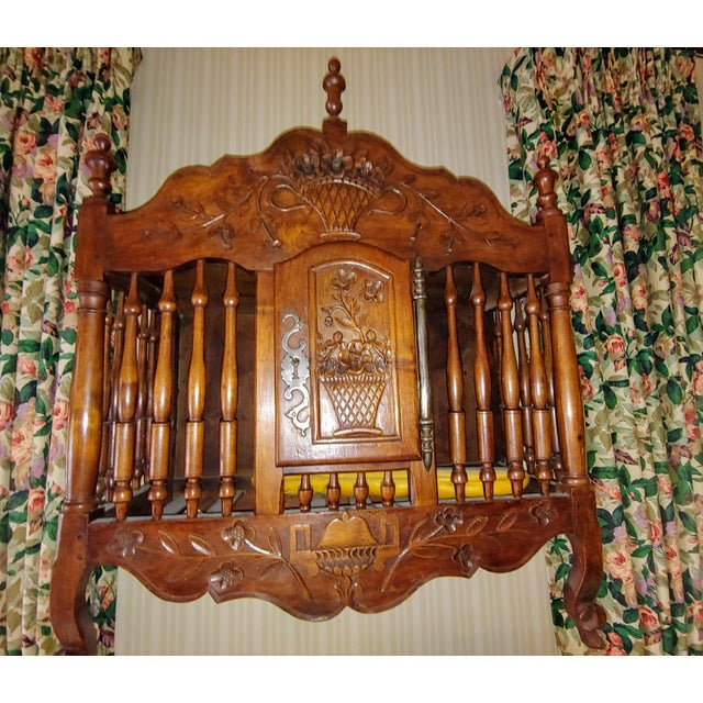 Nineteenth century wall mounted panatier purchased in the South of France. Transported in a stateroom on the SS France....