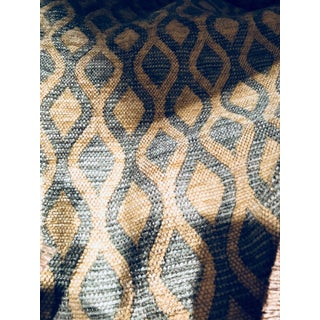 Contemporary Designer Abstract Velvet Fabric - 6 Yards For Sale