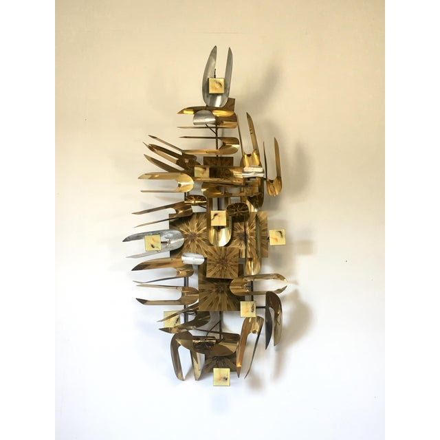 1970s William Vose Mid-Century Brass Wall Art Sculpture For Sale - Image 5 of 12