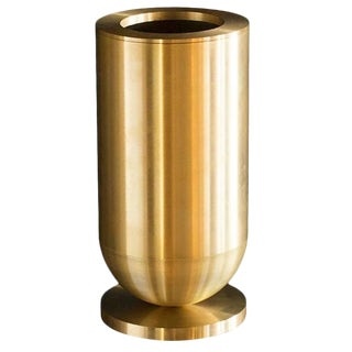 Cofete Brass Vase, Jan Garncarek For Sale