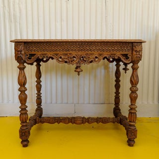19th Century English Oak Carved Occasional Table Preview