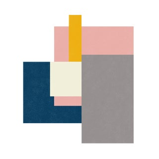 Color Array 1: Fog Gray, Ivory, Gold, Soft Pink, Navy Blue Print by Jessica Poundstone