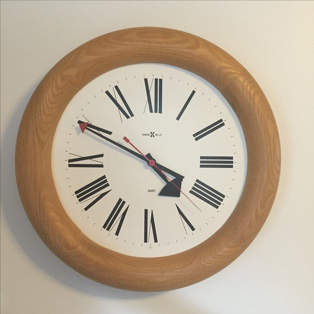 MCM Howard Miller Wall Clock by George Nelson - Image 2 of 7