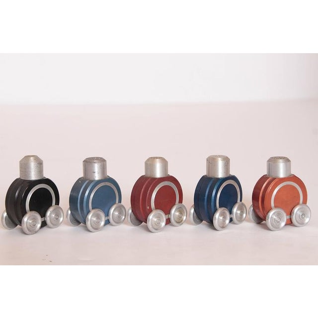 Mid 20th Century Machine Age Art Deco German Industrial Design Anodized Aluminum Rolling Objects For Sale - Image 5 of 11