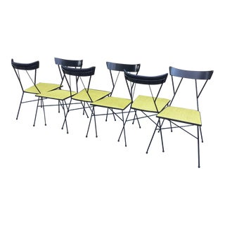 Paul McCobb Arbuck #76 Iron Chairs- Set of 6 For Sale