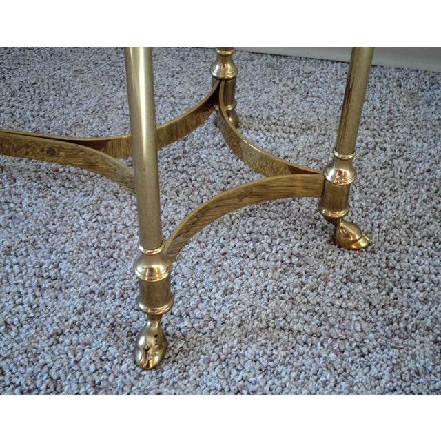 1960s La Barge-Style Brass Console - Image 4 of 7