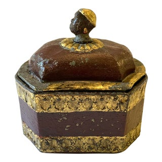 Early 19th C. Lead Tobacco Box For Sale
