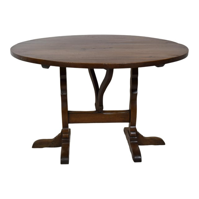 19th-Century French Oak Wine Tasting Table For Sale