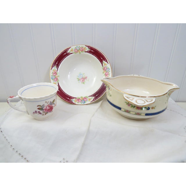 Mid 20th Century Vintage Mismatched China Dessert Set - 21 Pieces For Sale - Image 5 of 11