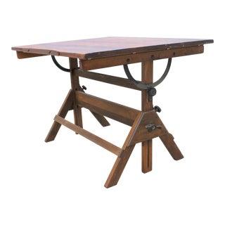 1920s Vintage Industrial Hamilton Drafting Table / Desk / Bar Table