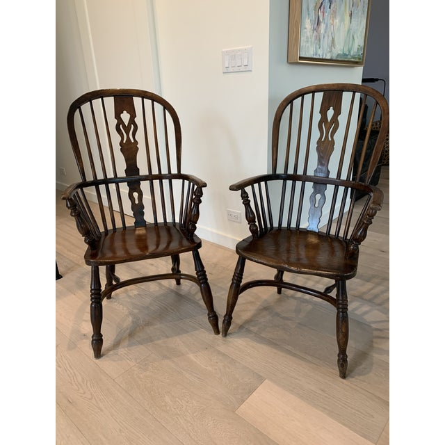 Late 19th Century Windsor Chairs - A Pair For Sale - Image 9 of 9
