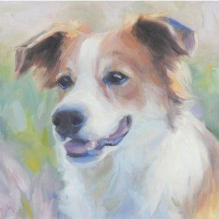 Portrait Painting of Mixed Shepherd Dog For Sale