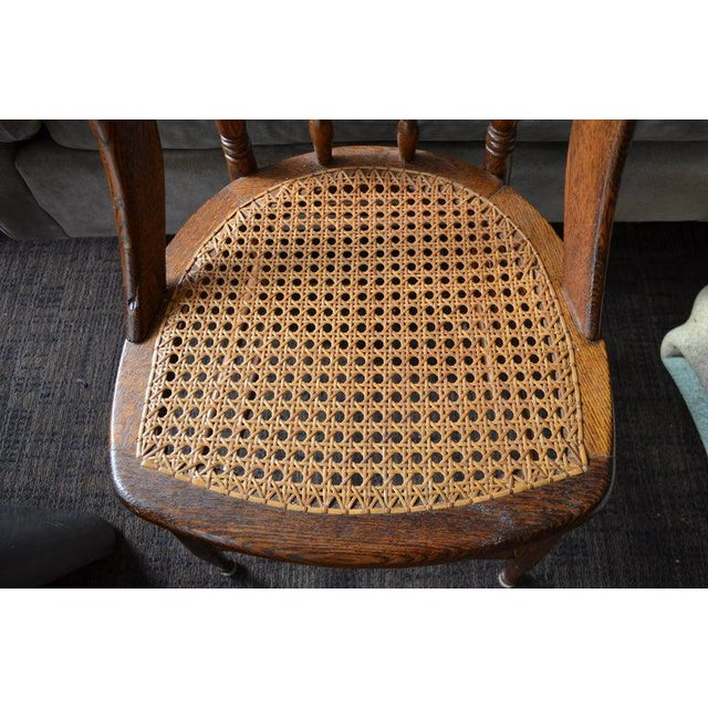 Dining Room Chairs With Caned Seats. Victorian Windsor Bow Back Style. Set of 8. For Sale - Image 9 of 13