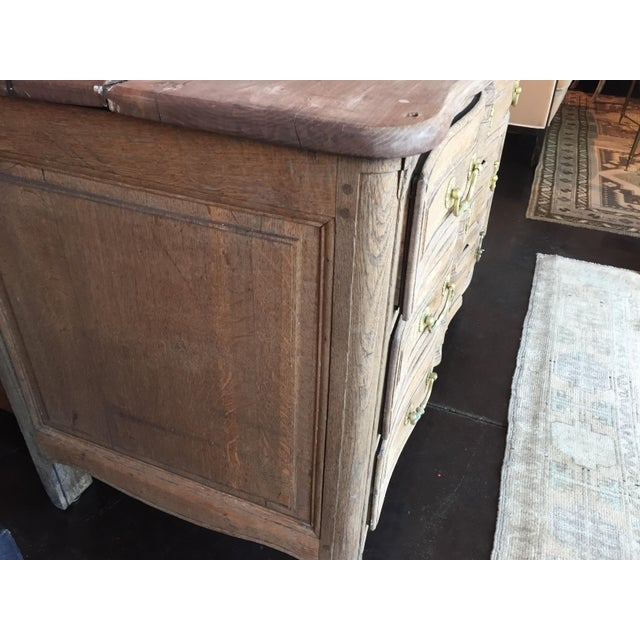 Late 18th Century Late 18th Century French Bleached Oak Three Drawer Commode For Sale - Image 5 of 10