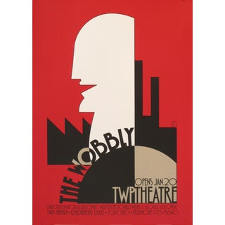 1983 Original Canadian Theatre Poster - the Wobbly For Sale
